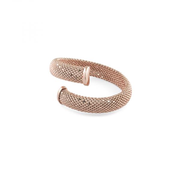 Bracciale rigido in bronzo dorato rosa