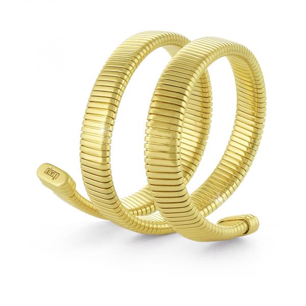 Bracciale in bronzo dorato rigido