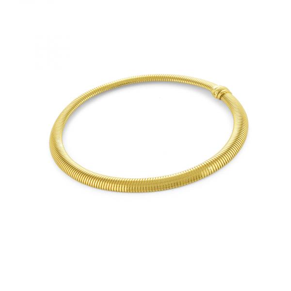 Collana rigida in bronzo dorato