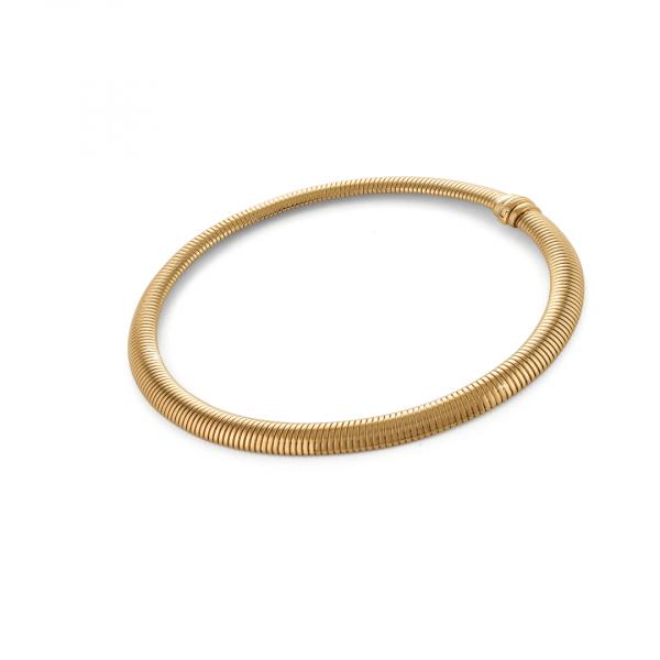 Red bronze rigid necklace