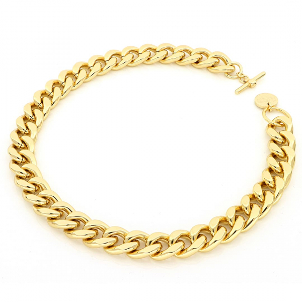 Collana Groumette in bronzo dorato
