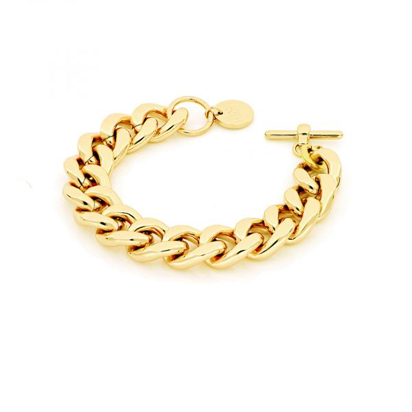 Bracciale Groumette in bronzo dorato