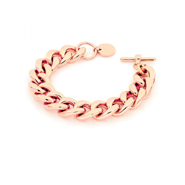 Bracciale Groumette in bronzo dorato rosa