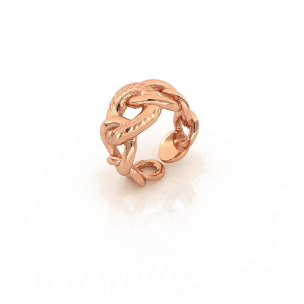 Anello in bronzo dorato rosa