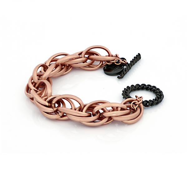Red and black bronze bracelets