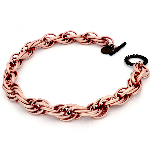 Red and black bronze necklaces