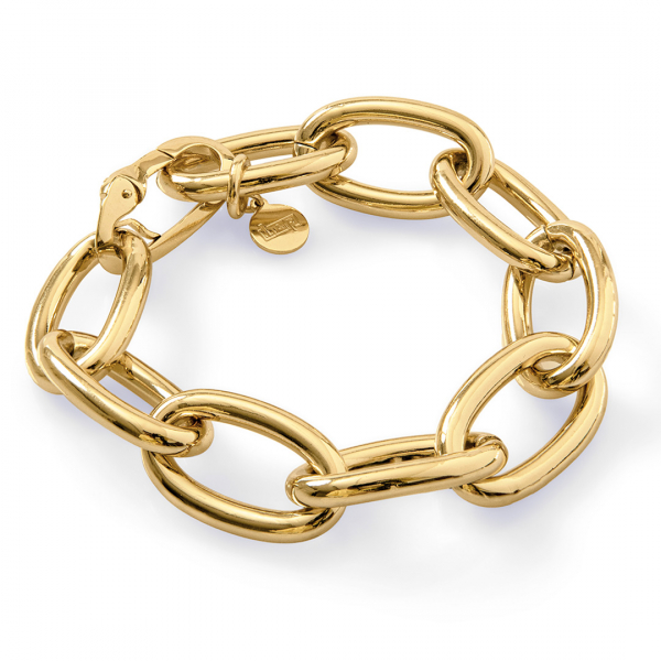 Yellow bronze bracelet with cable chain