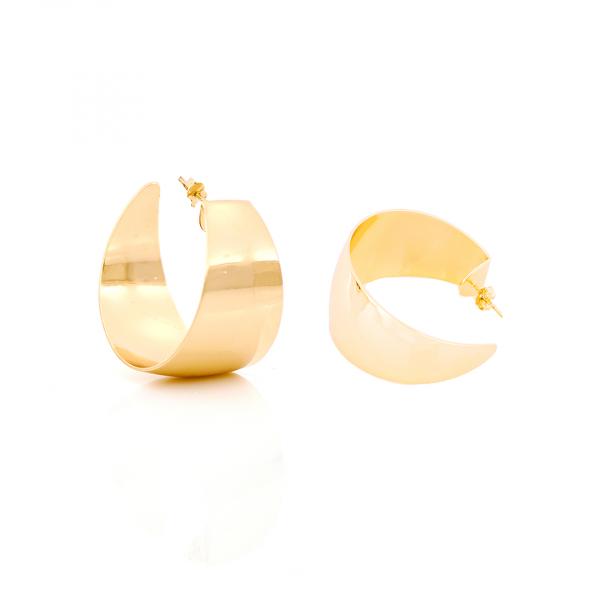Orecchini maxi Creole in bronzo dorato