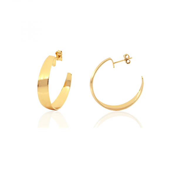 Orecchini Semi-cerchio in bronzo dorato