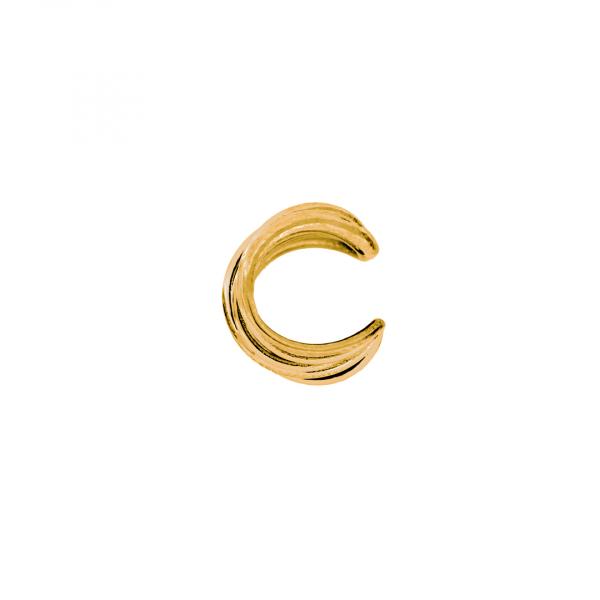 Monorecchino Ear Cuff in argento dorato