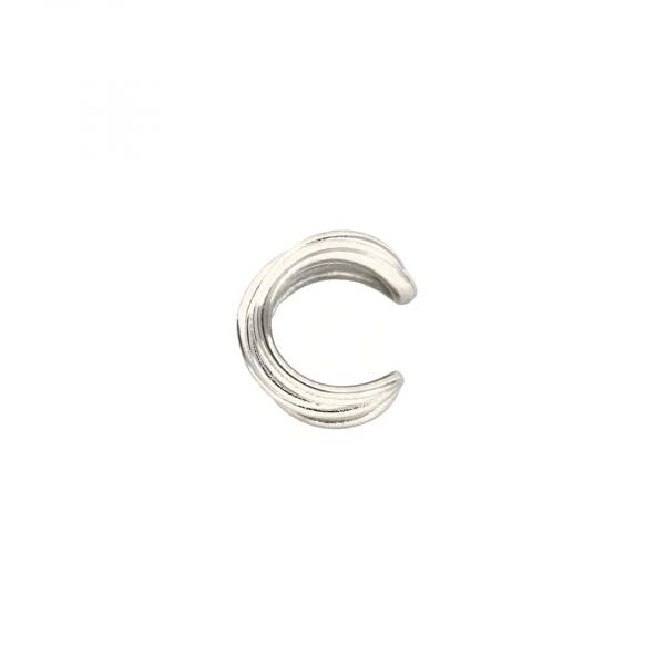 Monorecchino Ear Cuff in argento bianco