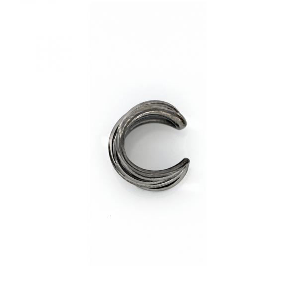 Monorecchino Ear Cuff in argento brunito