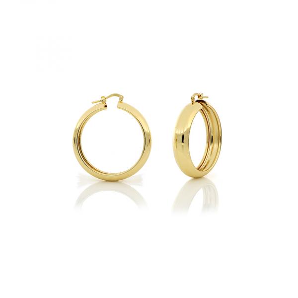 Orecchini a cerchio mini in bronzo dorato