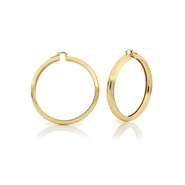 Orecchini a cerchio in bronzo dorato