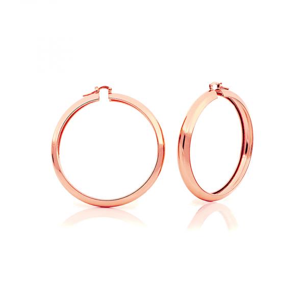 Orecchini a cerchio in bronzo dorato rosa