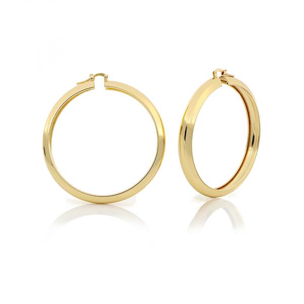 Orecchini a cerchio maxi in bronzo dorato