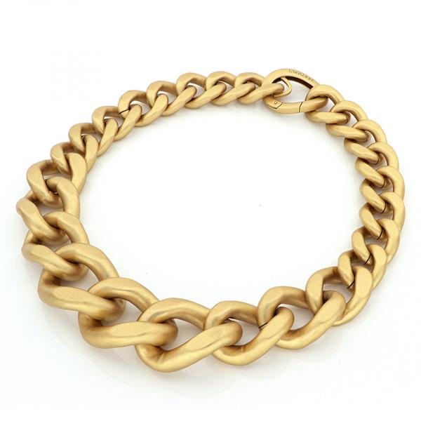 Yellow bronze maxi groumette necklace