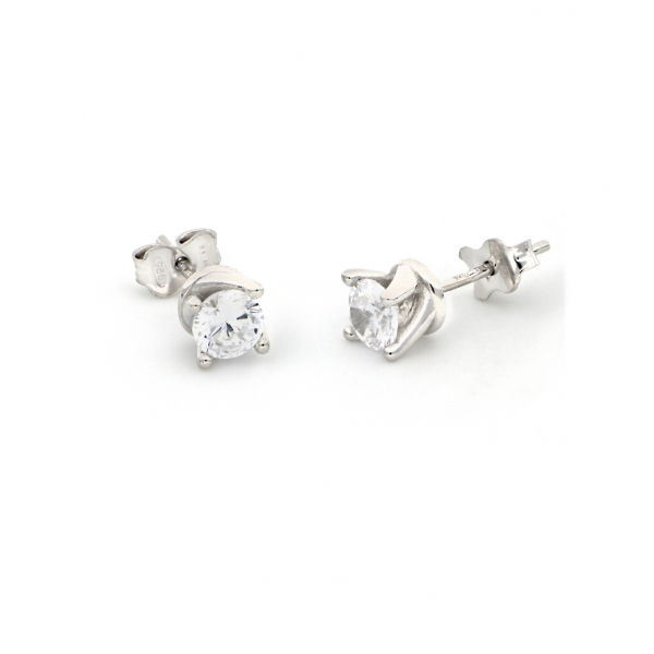 White silver Cubic Zirconia earrings