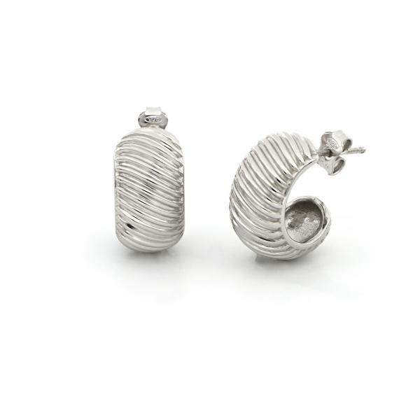 Orecchini Vortice in argento bianco