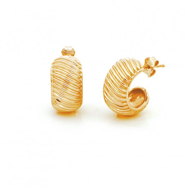 Orecchini Vortice in argento dorato