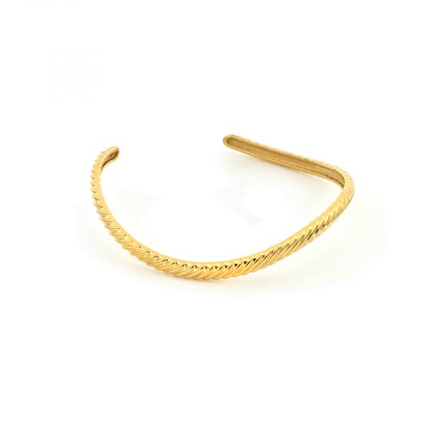 Bracciale rigido in argento dorato Vortice
