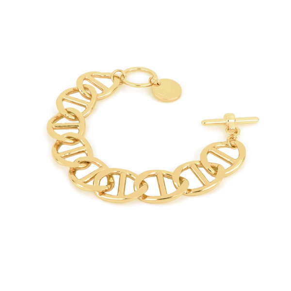 Yellow bronze Traversino bracelet