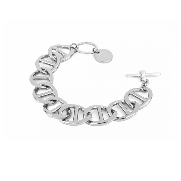 White bronze Traversino bracelet