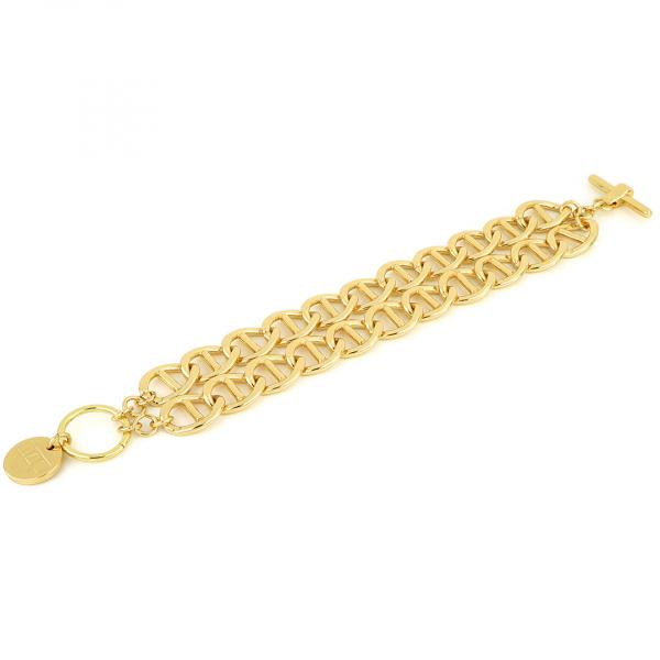 Bracciale Traversino in bronzo dorato