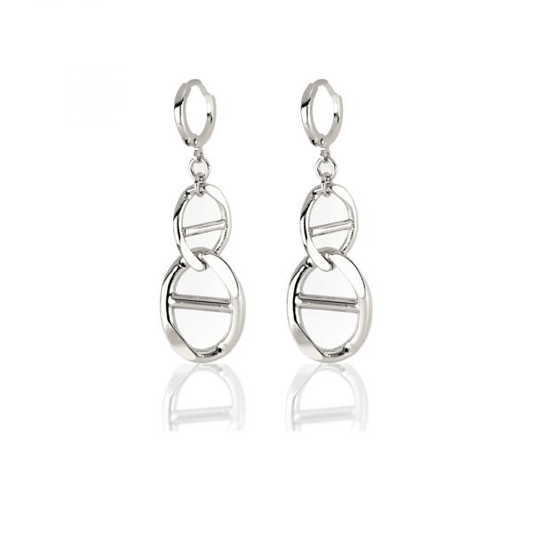 White bronze Traversino earrings