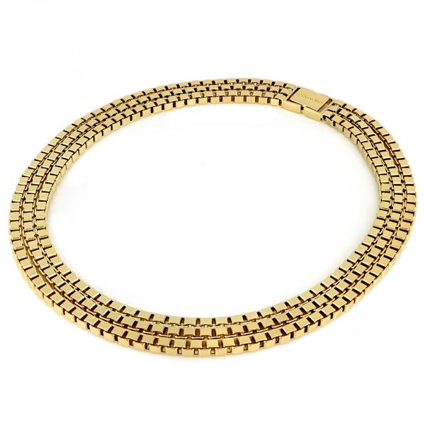 Yellow bronze Veneziana necklace