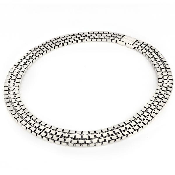 White bronze Veneziana necklace