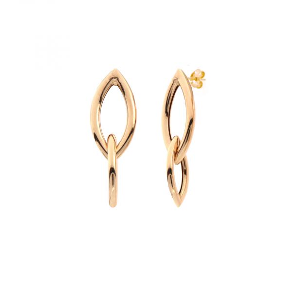 Yellow silver Navette earrings