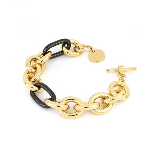 Yellow and  black bronze bracelet
