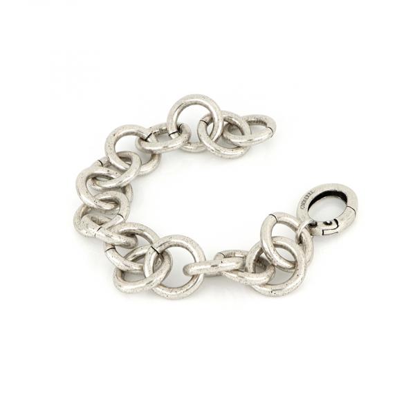 White bronze chain bracelet