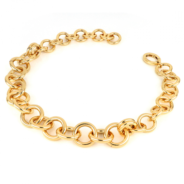 Yellow bronze chain necklace