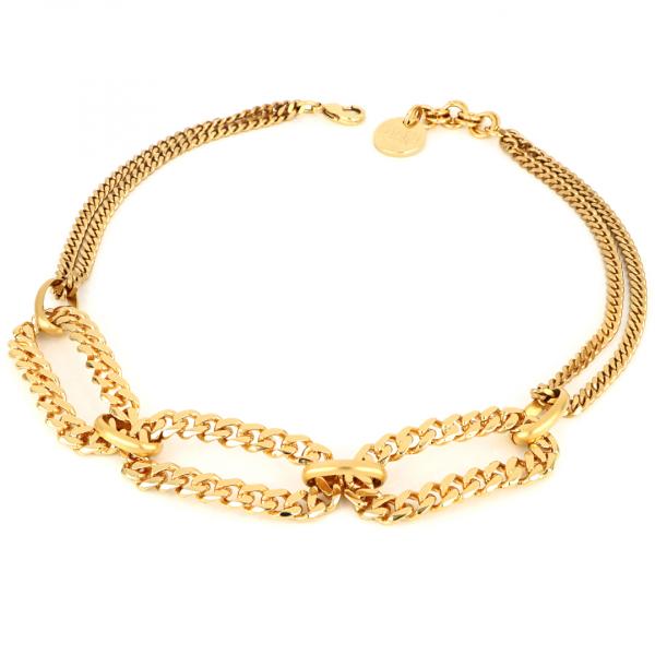 Collana dorata in bronzo