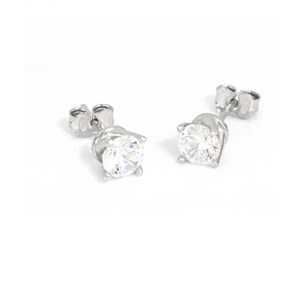 White silver Maxi Cubic Zirconia earrings