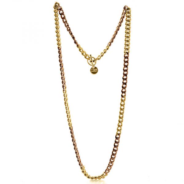Collana Chanel in bronzo cioccolato