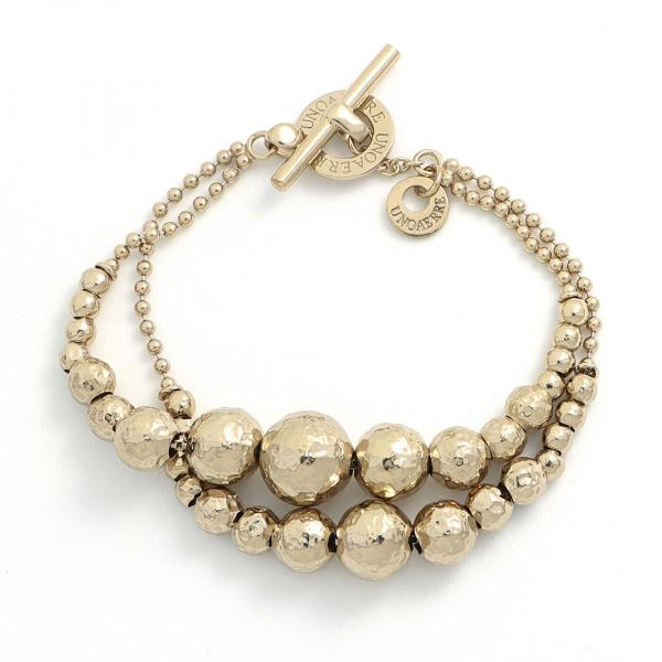 Ice gold silver bracelet