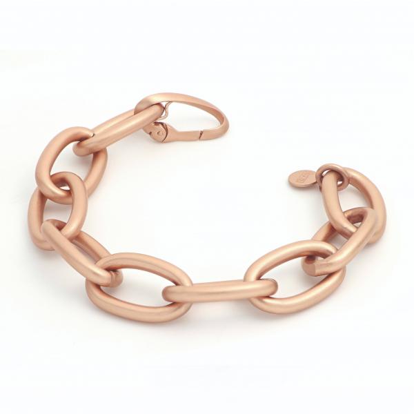 Satin pink bronze bracelet