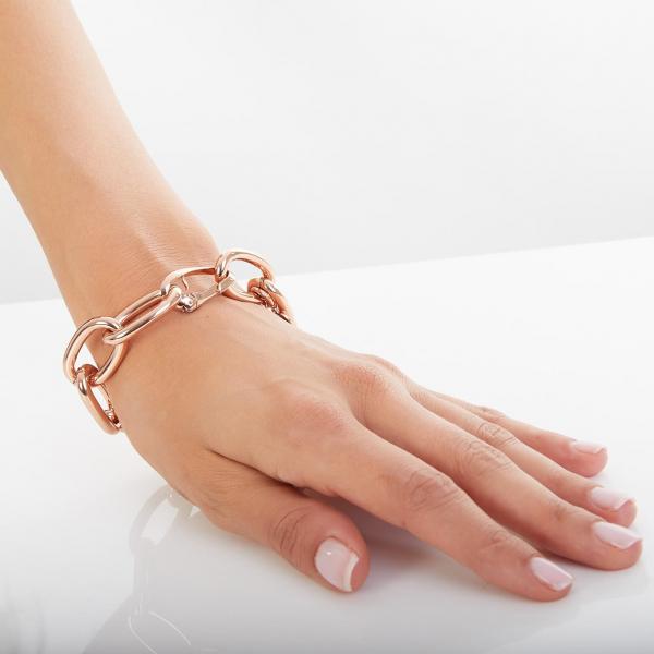 Pink bronze bracelet