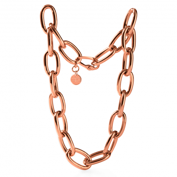 Collana in bronzo dorato rosa