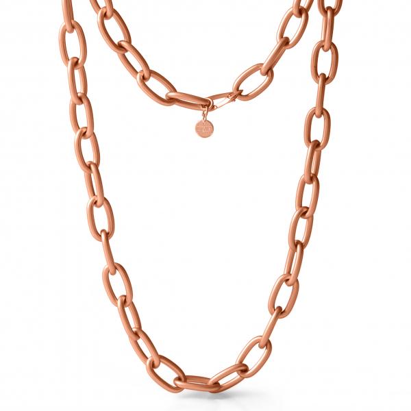 Collana in bronzo dorato rosa satinato