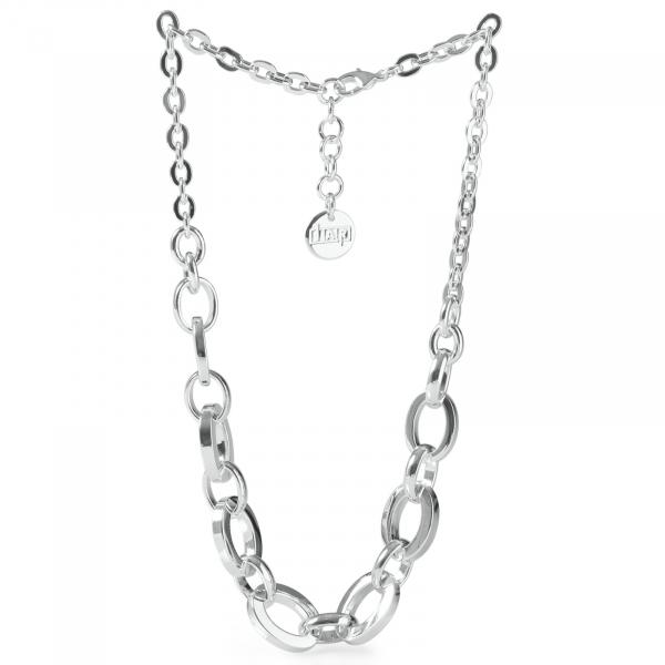Collana in bronzo argentato
