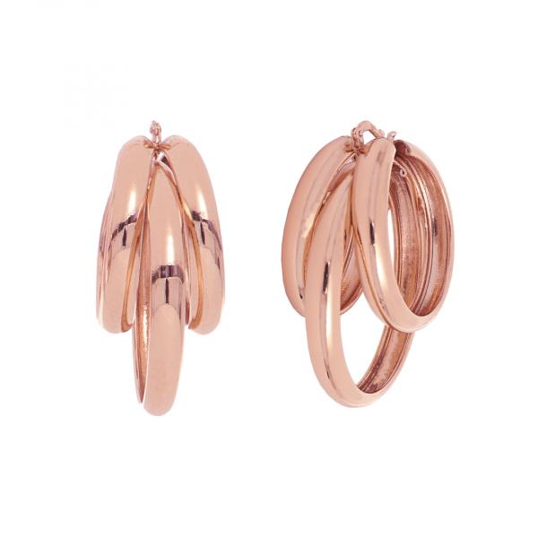 Orecchini in bronzo dorato rosa