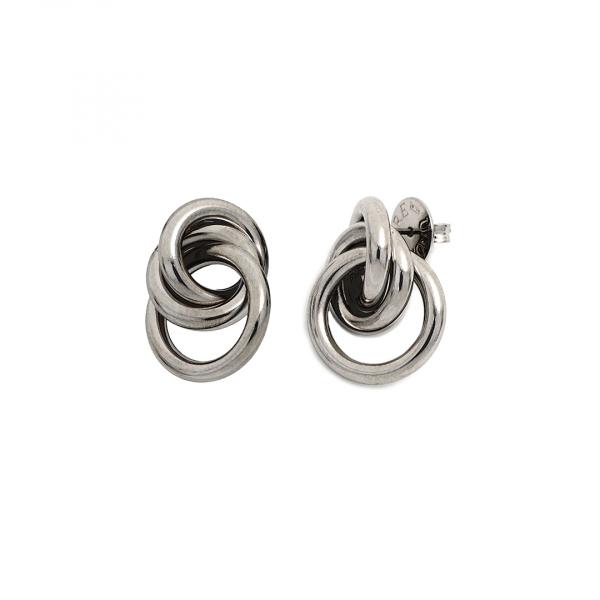 Orecchini in argento brunito
