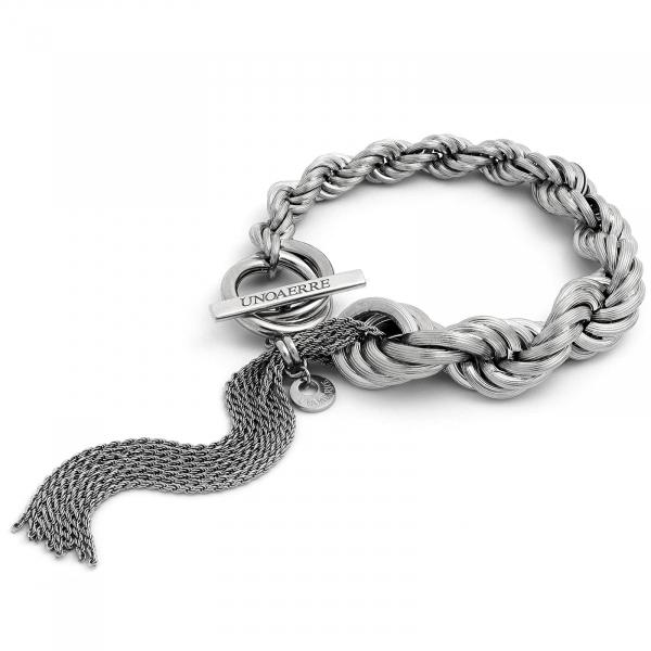 Bracciale in argento brunito