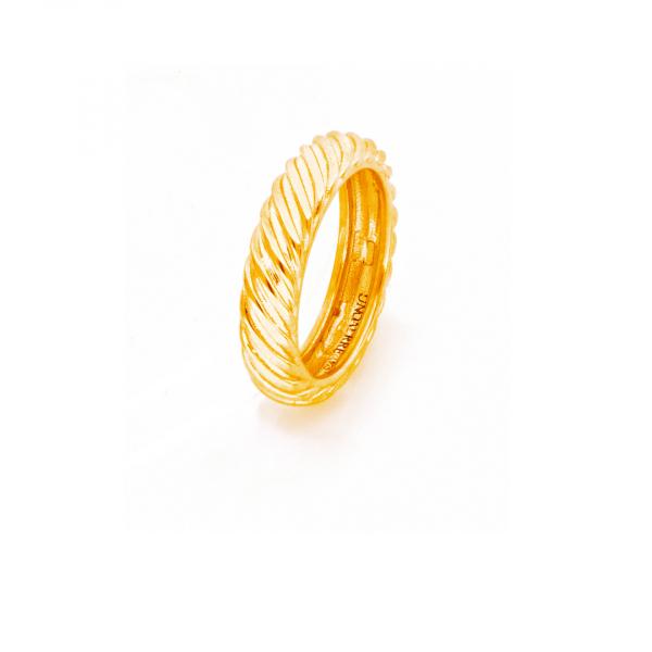 Anello Vortice in argento dorato