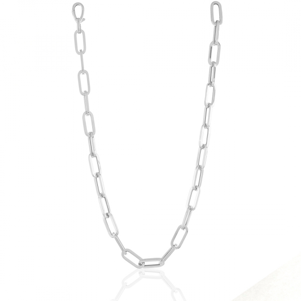 Collana in argento bianco
