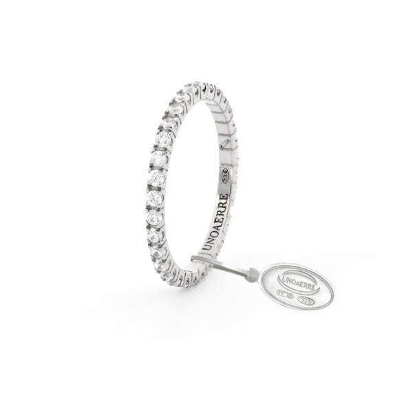 White silver Veretta ring